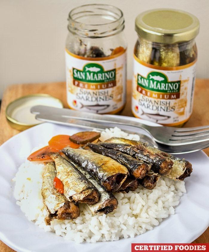 San Marino Premium Spanish Sardines - extra rice pa!