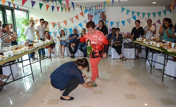 You can see our nanay's gigil when she stepped on that tomato hahaha