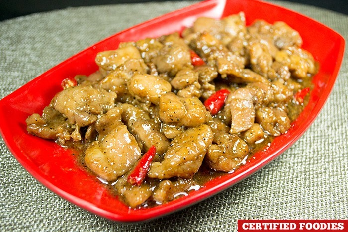 Caramelized Black Pepper Spicy Chicken - Mhelinamnam recipe