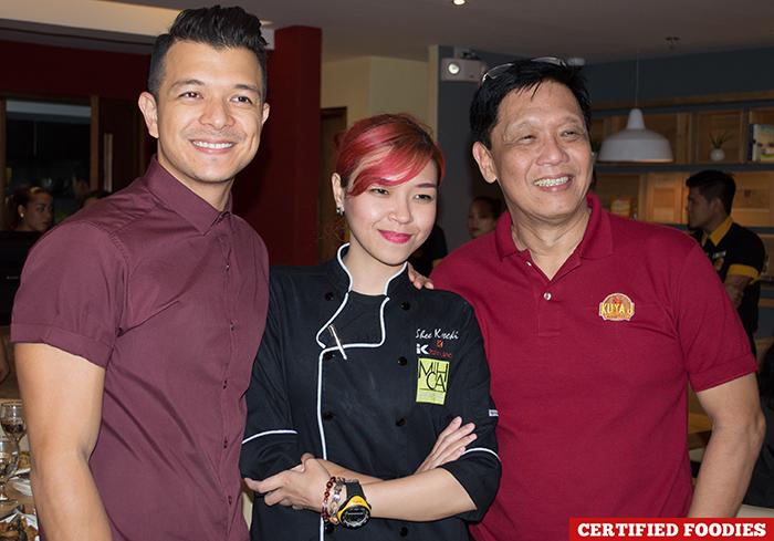 Jericho Rosales Chef Sheena Koseki Winglip Chan for Kuya J Restaurant in SM Megamall Mandaluyong