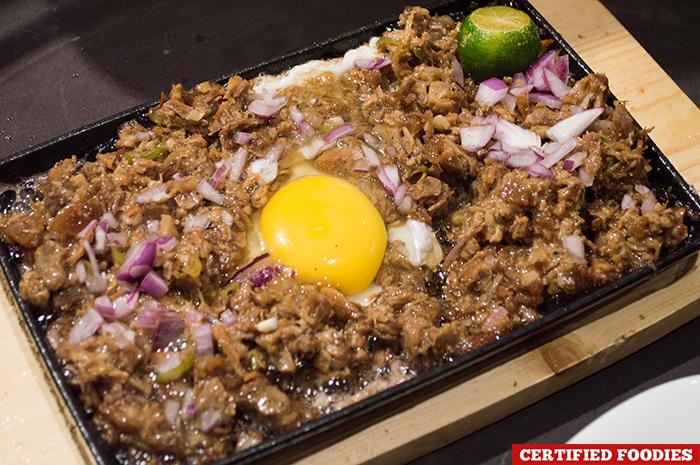 Sizzling Sisig with Egg from Kuya J Restaurant SM Megamall Mandaluyong