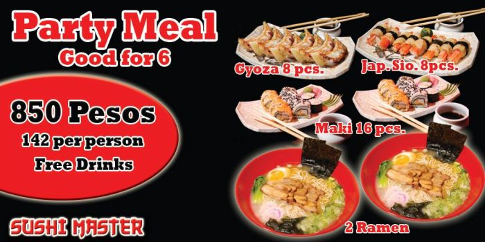 Sushi Master - Party Meal Promo