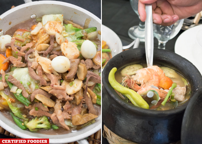 Chopsuey and Seafood Sinigang from Master Garden Restaurant in Malabon City