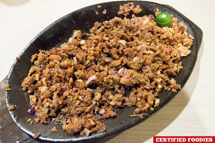 Krispy Sisig from Dencios Bar and Grill Restaurant Eastwood Libis Taguig