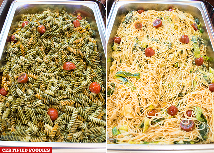 Vegetarian Pasta Dishes from Gandiva Cafe Archery Range