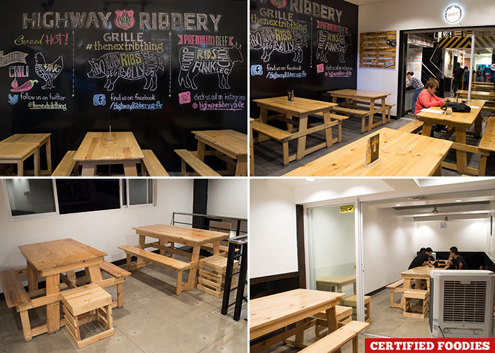 Charming Highway Ribbery Grille Restaurant Dining Area In Quezon City