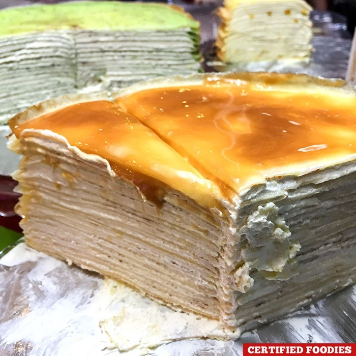 KISS' Mille Crepe Cakes filled with buttercream made with Alaska Crema