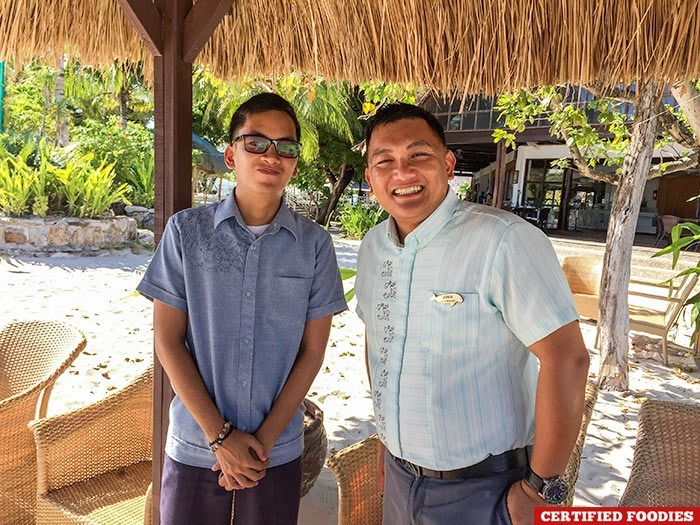 CJ and Joegil from Club Paradise Resort in Coron, Palawan
