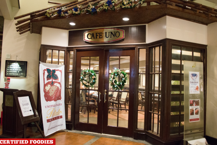 Cafe Uno at Waterfront Insular Hotel Davao City