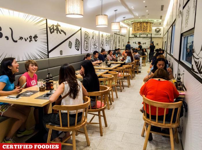 Dining Area of Nadai Fujisoba Japanese Restaurant SM North EDSA The Block