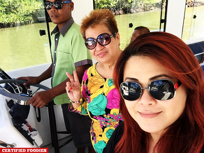 On the boat, on our way to Club Paradise Resort in Coron Palawan
