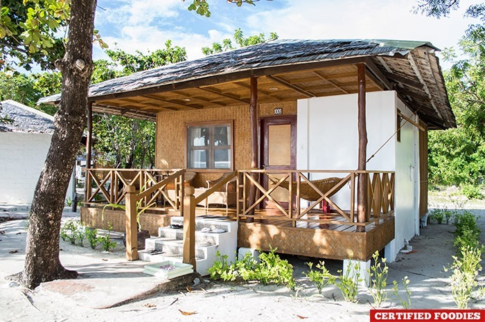 Our cabin at Club Paradise Resort in Coron, Palawan