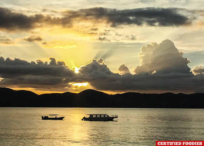 Sunset at Club Paradise in Coron Palawan