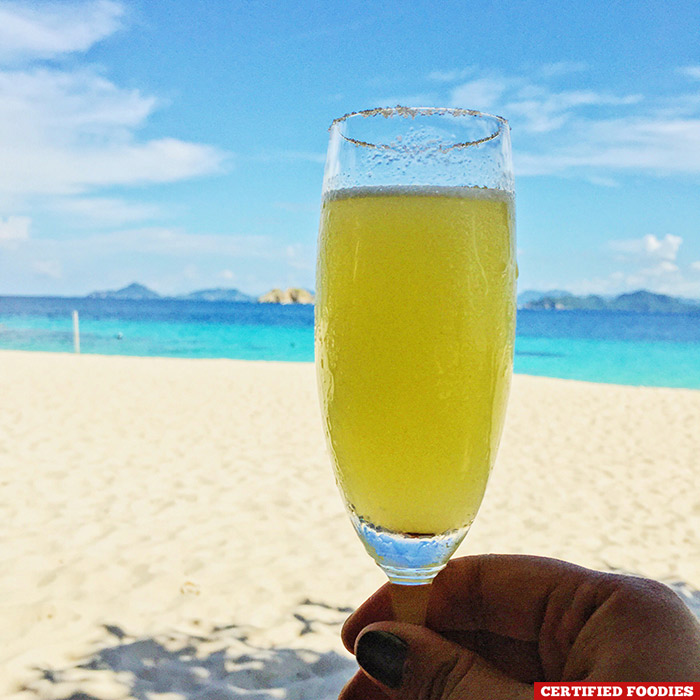Welcome drinks at Club Paradise in Coron Palawan