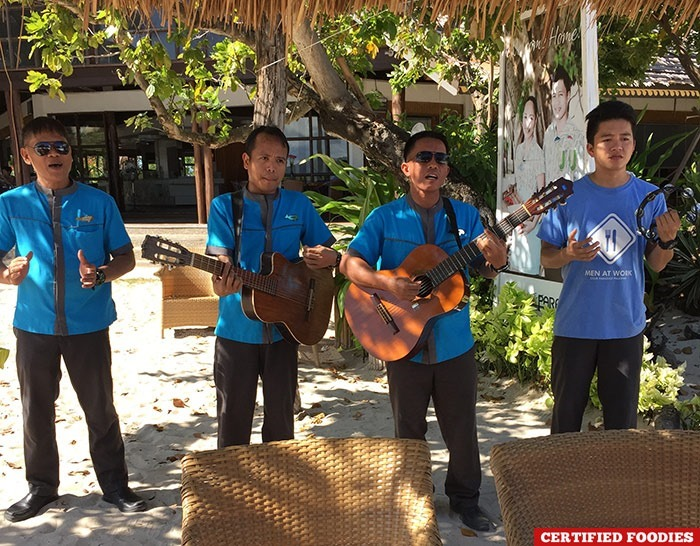 Welcome song from Club Paradise Resort in Coron, Palawan