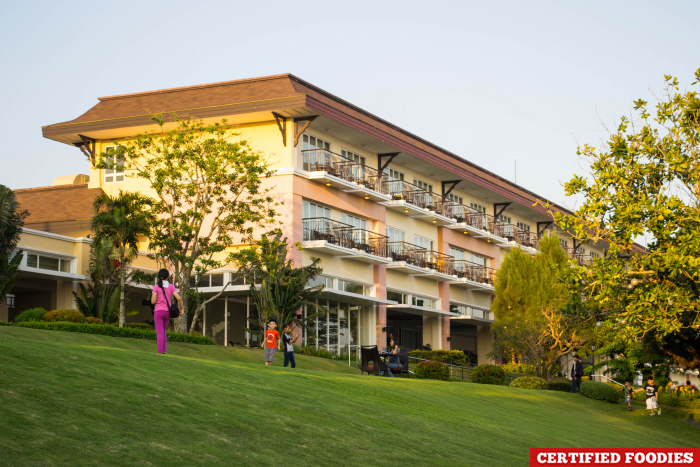 Lake View Building and Viewing Deck of Taal Vista Hotel Tagaytay City Philippines