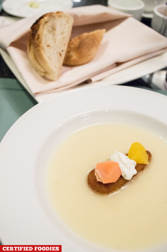 US Mashed Potato Soup Infused with Turmeric Potato Croutons from Polo Bistro Restaurant Marco Polo Hotel Davao