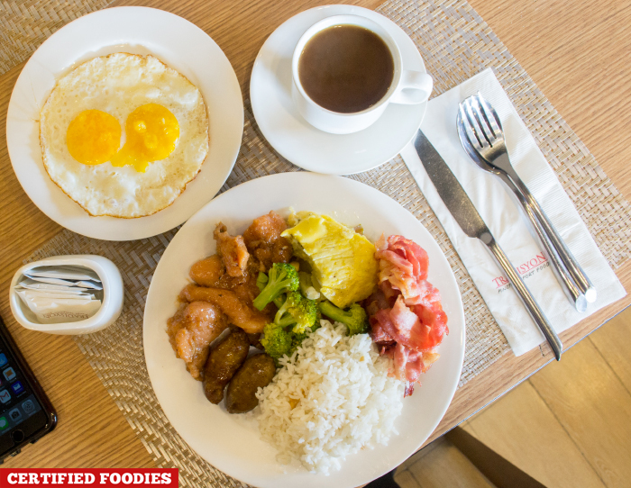 Daily Breakfast Buffet Plate at Tradisyon Restaurant in Azalea Baguio