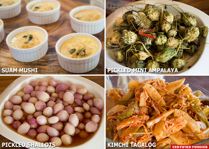 Side Dishes for the Batangas Food Festival at Matabungkay Beach Hotel in Lian Batangas