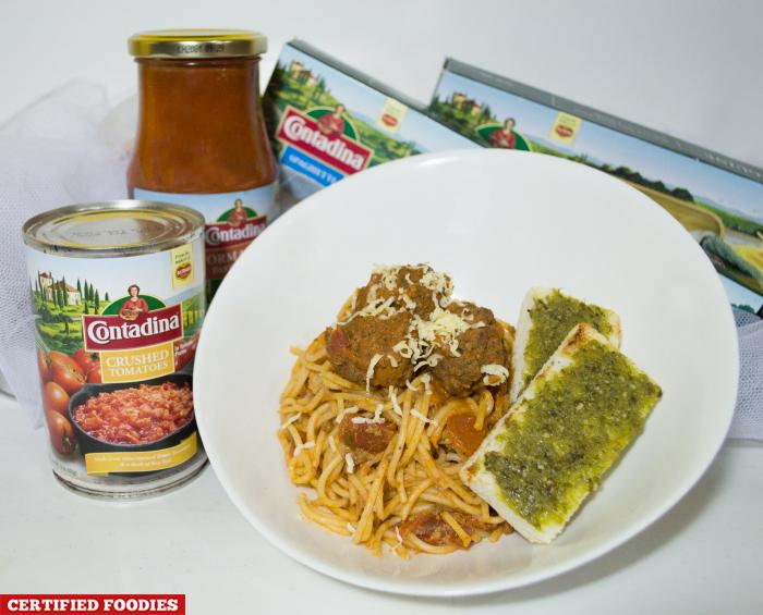 Contadina Spaghetti with Meatballs Recipe